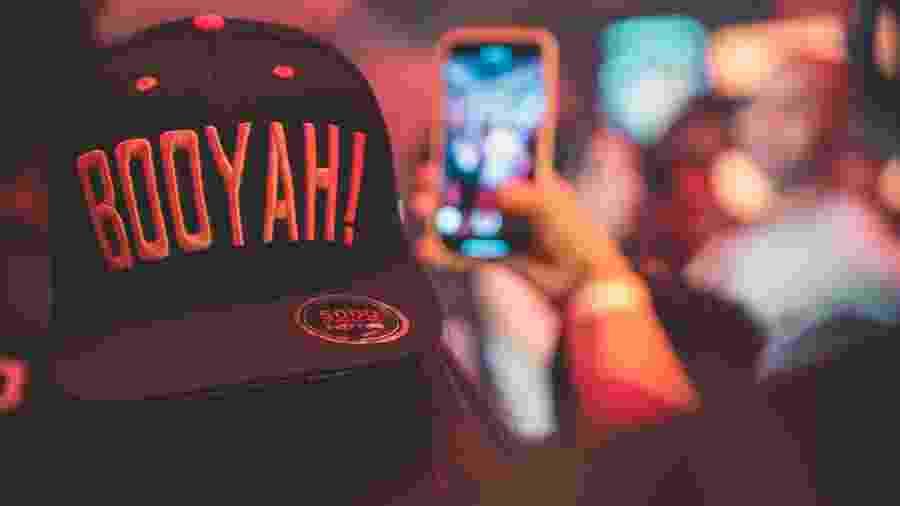 """A expressão """"BOOYAH!"""" que marca uma vitória no Free Fire, é também o nome do app de streaming da Garena - Divulgação/Garena"""