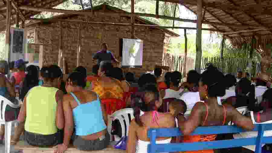 Membros das comunidades quilombolas durante reunião em Alcântara (MA) - Arquivo Pessoal