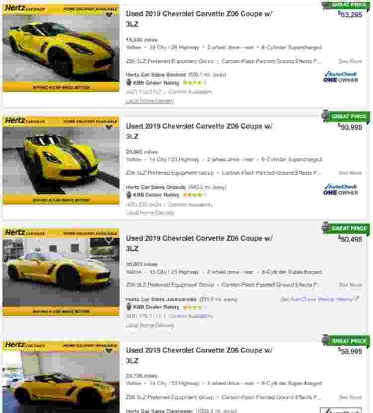 Corvette Hertz - Reprodução - Reprodução