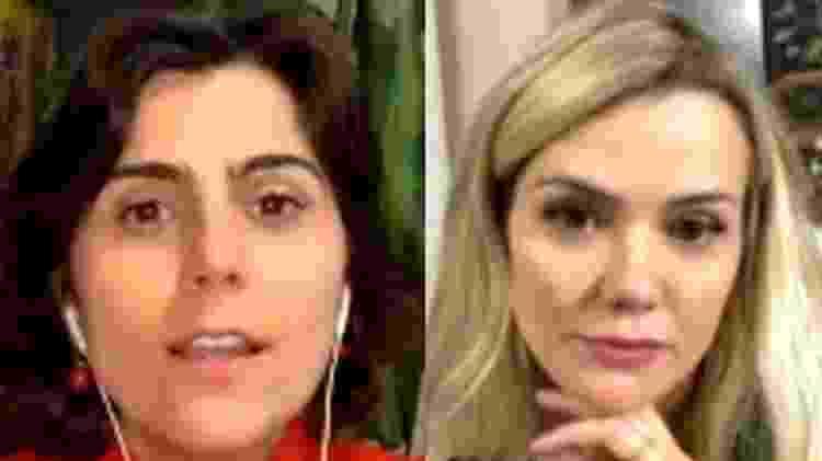 Manuela D'Ávila e Marcela Mc Gowan em live no Instagram - Reprodução/Instagram - Reprodução/Instagram