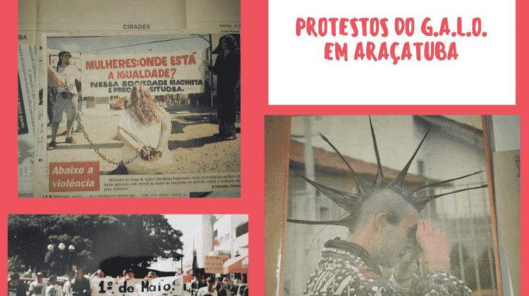 Protestos GALO - Arquivo Pessoal  - Arquivo Pessoal