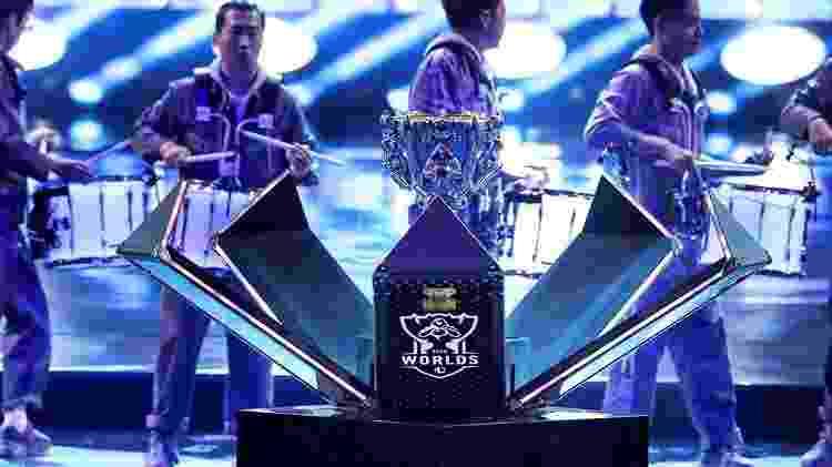 Mundial LoL 2020 Final cerimônia de abertura troféu - Divulgação/Riot Games - Divulgação/Riot Games