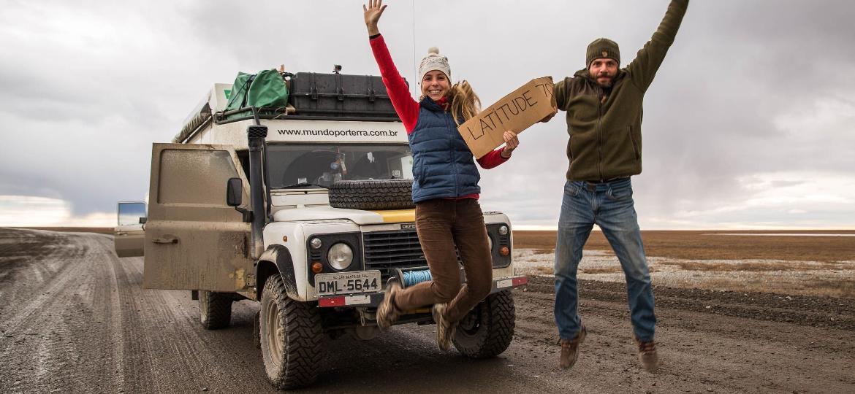 Michelle Weiss e Roy Rudnick, no Alasca - Arquivo pessoal