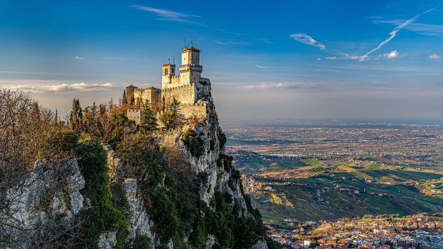 Torre Guaita, em San Marino - Traumlichtfabrik/Getty Images