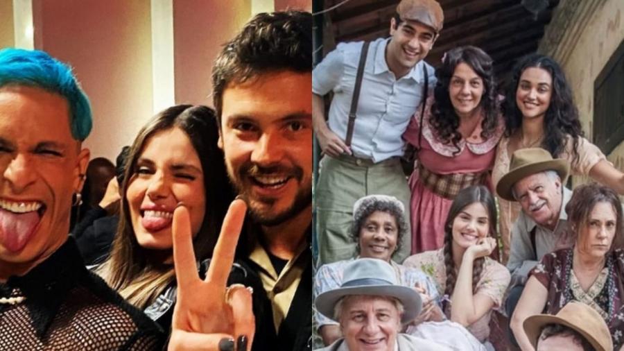 """Sergio Guizé celebra reencontro de elenco de """"Êta Mundo Bom!"""" em """"Verdades Secretas 2"""" - Reprodução/Instagram e Divulgação/TV Globo"""