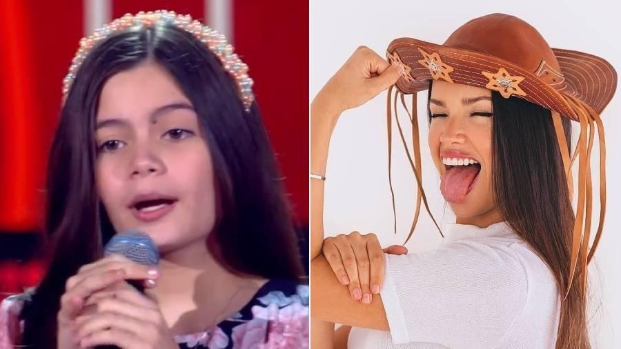 """Laís Menezes se apresenta no """"The Voice Kids"""" e público a compara com a campeã do """"BBB 21"""" - Reprodução/Globo"""