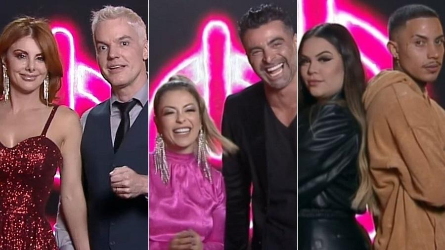 Power Couple: Deborah e Bruno, Li e JP e Mari e Matheus disputam a última DR - Divulgação/RecordTV