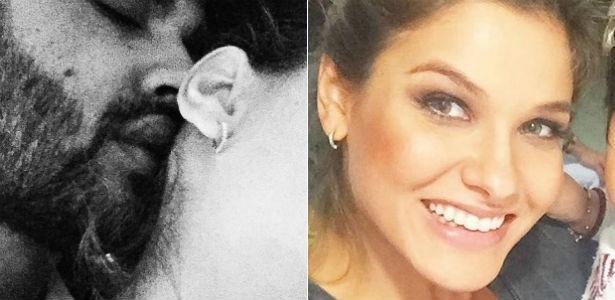 Gusttavo Lima posta foto com uma mulher e fãs especulam que seja a ex-noiva do cantor, Andressa Suíta, que aparece com um brinco parecido em outra imagem