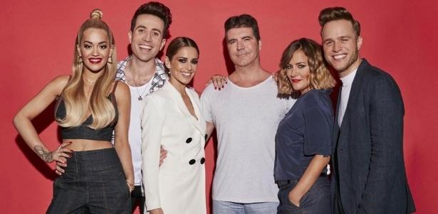 """Time de jurados e apresentadores do """"X Factor"""" britânico em 2015 - Divulgação/ITV"""