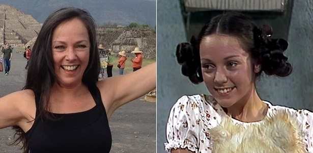 """Ana de la Macorra nos dias atuais e em 1978, quando interpretou Paty em """"Chaves"""""""