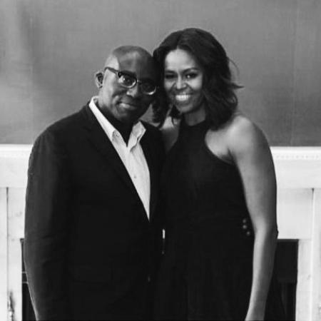 Edward Enninful com Michelle Obama - Instagram/@edward_enninful