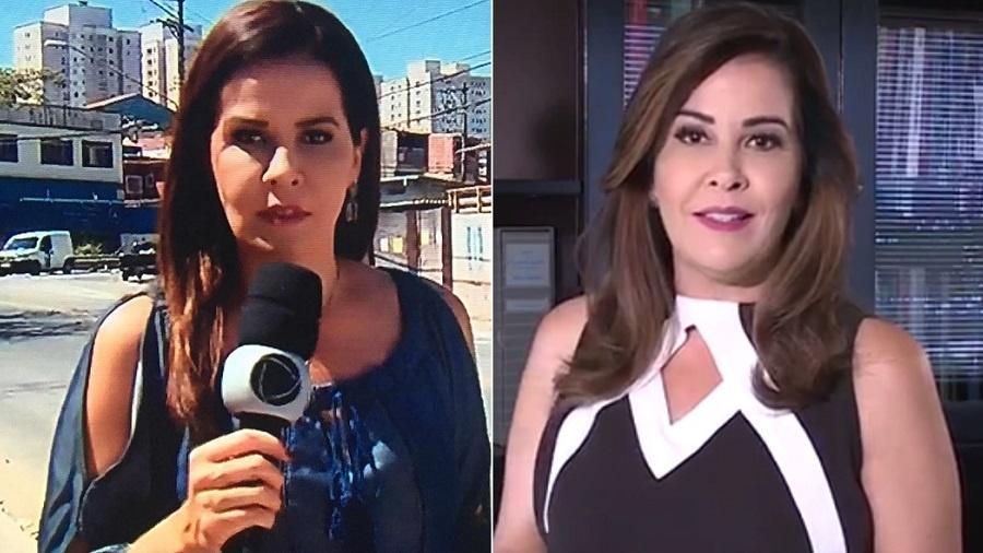Leniza Krauss como repórter da Record (à esquerda) e como diretora de uma empresa de comunicação - Montagem/Reprodução/Instagram