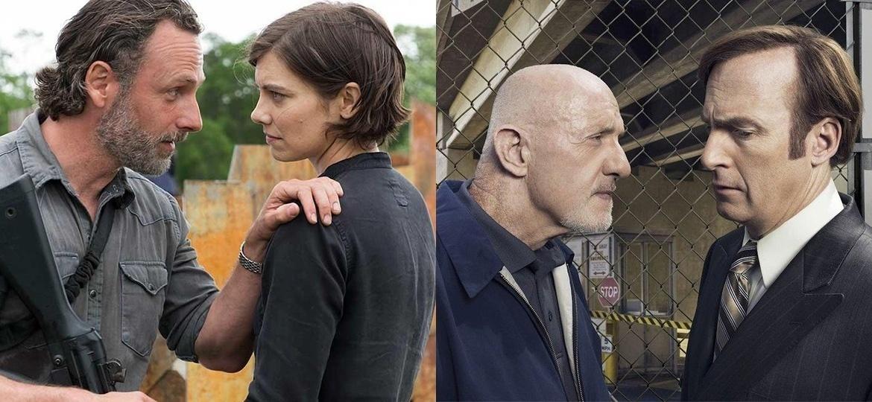 """""""The Walking Dead"""" demora para ser atualizada na Netflix, mas """"Better Call Saul"""", não. Explicamos o porquê - Divulgação e Montagem/UOL"""
