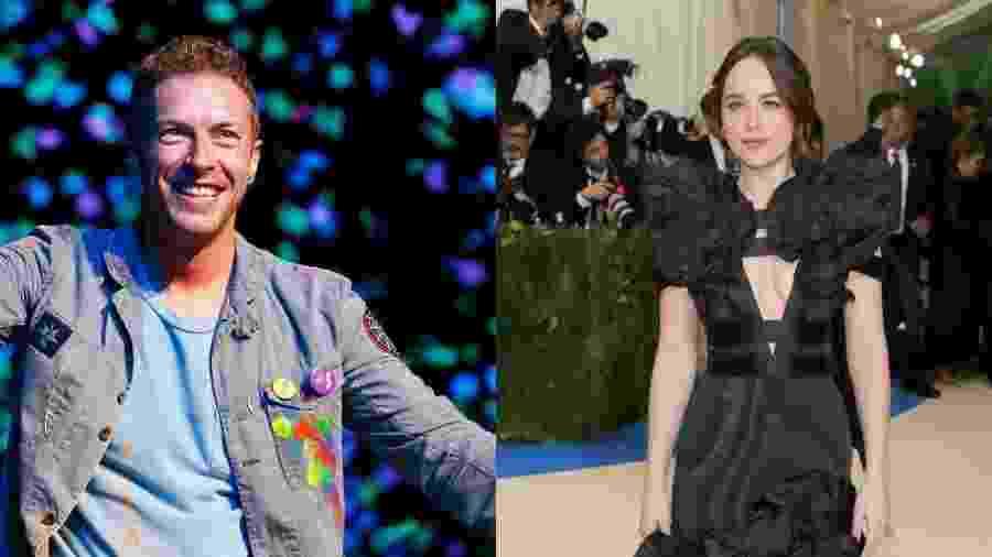 Chris Martin e Dakota Johnson foram flagrados juntos em restaurante e em praia - Getty Images/Montagem UOL