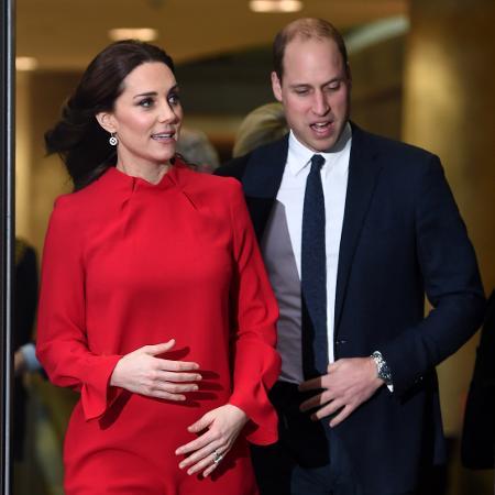 Kate e William a caminho da maternidade - Getty Images