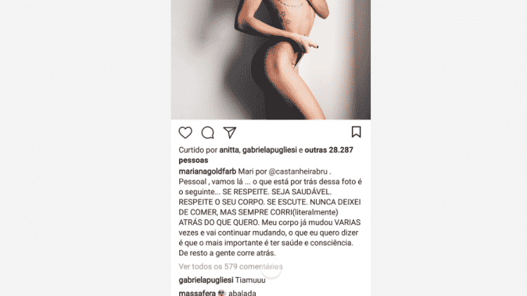 Grazi Massafera comenta foto de Mariana Goldfarb - Reprodução/Instagram - Reprodução/Instagram