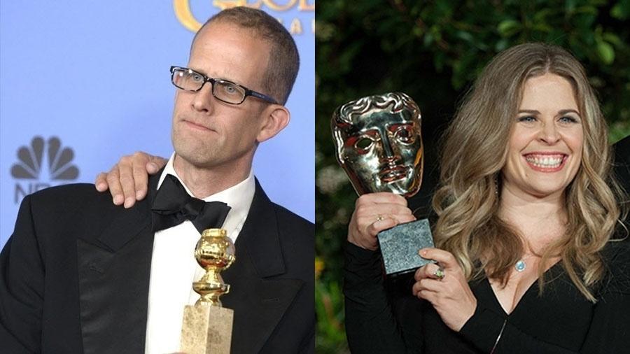 """Pete Docter e Jennifer Lee, diretores dos filmes """"Divertida Mente"""" e """"Frozen"""" - Montagem sobre EFE e Daniel Deme/Frame"""