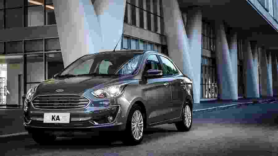 Ford Ka Sedan (foto) manteve o segundo lugar, atrás do Corolla, e apresentou alta de 18,8%, na contramão do setor automotivo - Divulgação