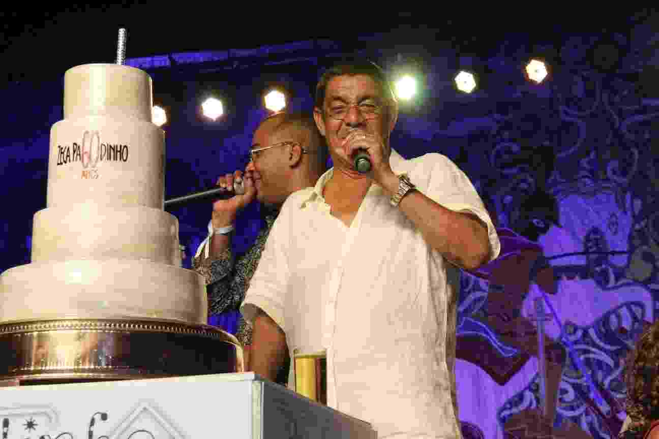 Zeca Pagodinho festeja seus 60 anos com festão na Cidade do Samba, no Rio, na noite de segunda-feira (4) - Wallace Barbosa/ AgNews-