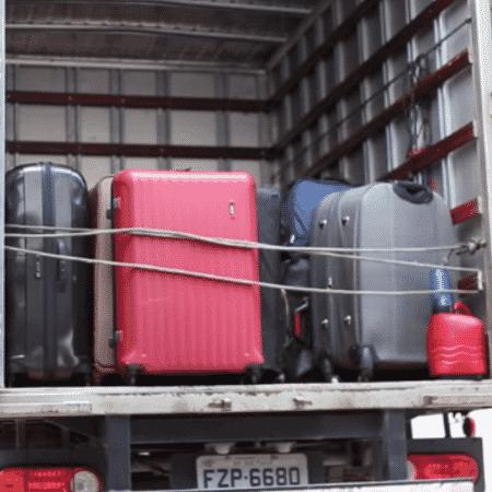 Caminhão leva malas de Dani Souza para o aeroporto - Reprodução/Instagram - Reprodução/Instagram