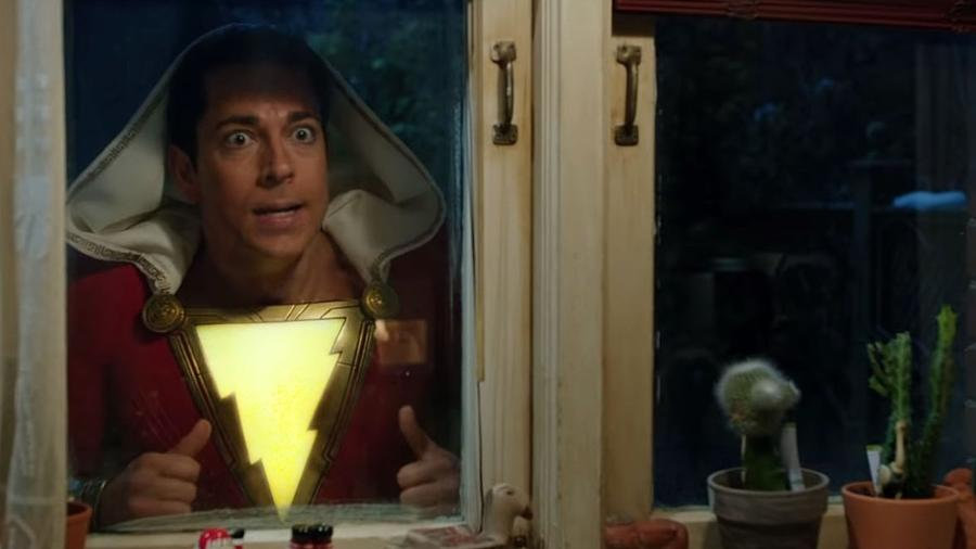 """Cena do trailer de """"Shazam!"""" - Reprodução/YouTube"""