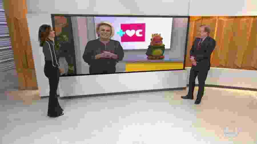 """Ana Maria Braga e Louro José conversam com Ana Paula Araújo e Chico Pinheiro no """"Bom Dia Brasil"""" - Reprodução/TV Globo"""