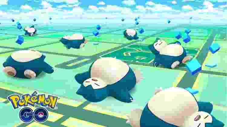 Para acompanhar o anúncio, o dorminhoco Snorlax vai aparecer com mais frequência em Pokémon Go por tempo limitado - Divulgação