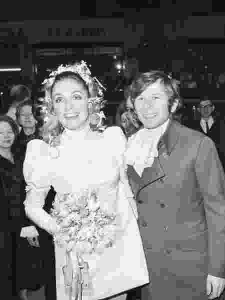 Sharon Tate e Romans Polanski no dia de seu casamento, em Londres - Bettmann Archive/Getty Images