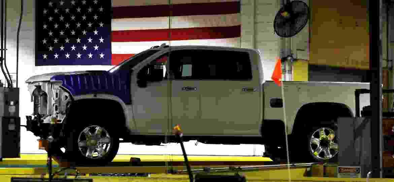 Fábrica da General Motors em Flint, nos Estados Unidos - JEFF KOWALSKY/AFP