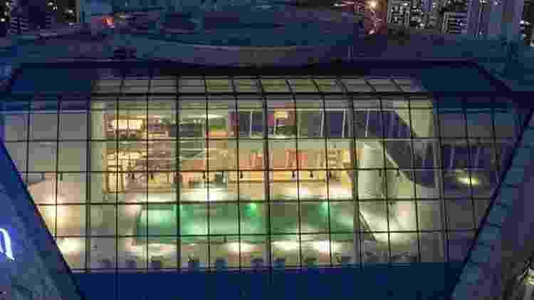 A piscina do hotel Hilton, no Morumbi, em São Paulo - Reprodução/hiltonhotels.com - Reprodução/hiltonhotels.com