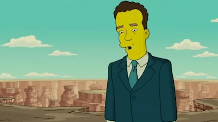 """Tom Hanks participa de episódio de """"Os Simpsons"""", em 2007 - Reprodução/Fox Chennel"""