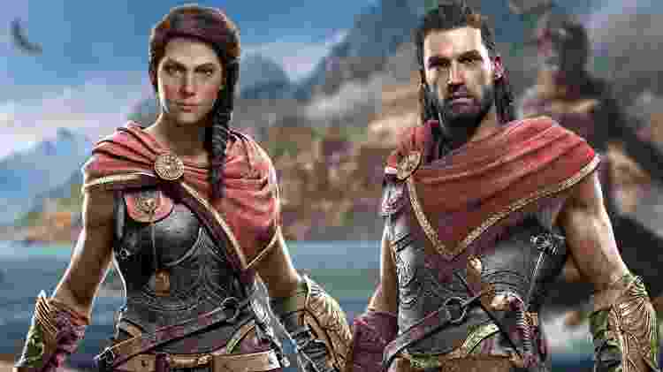 Assassin's Creed Kassandra e Alexios - Divulgação/Ubisoft - Divulgação/Ubisoft
