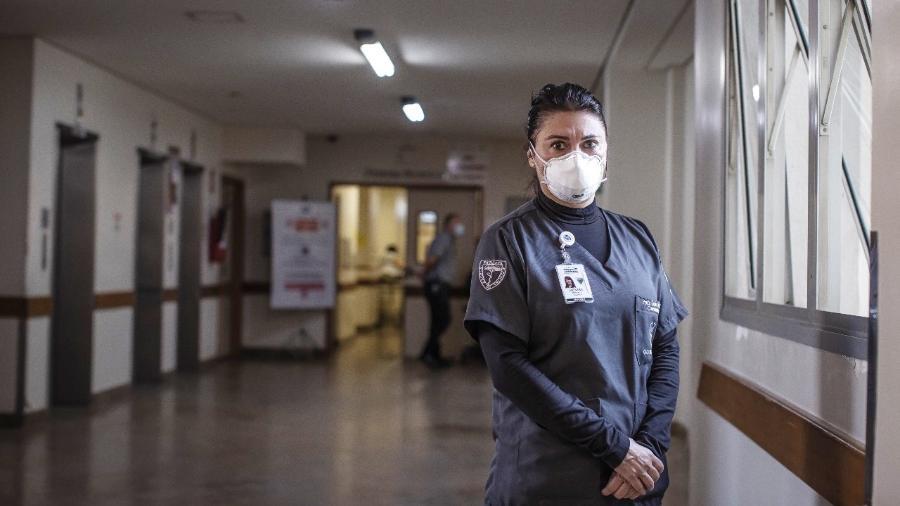 """A cirurgiã dentista Denise Abranches, primeira voluntária brasileira a receber a """"vacina de Oxford"""" - Jonne Roriz"""