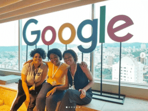Isabelle Christina do projeto Meninas Negras no Google - Reprodução - Reprodução