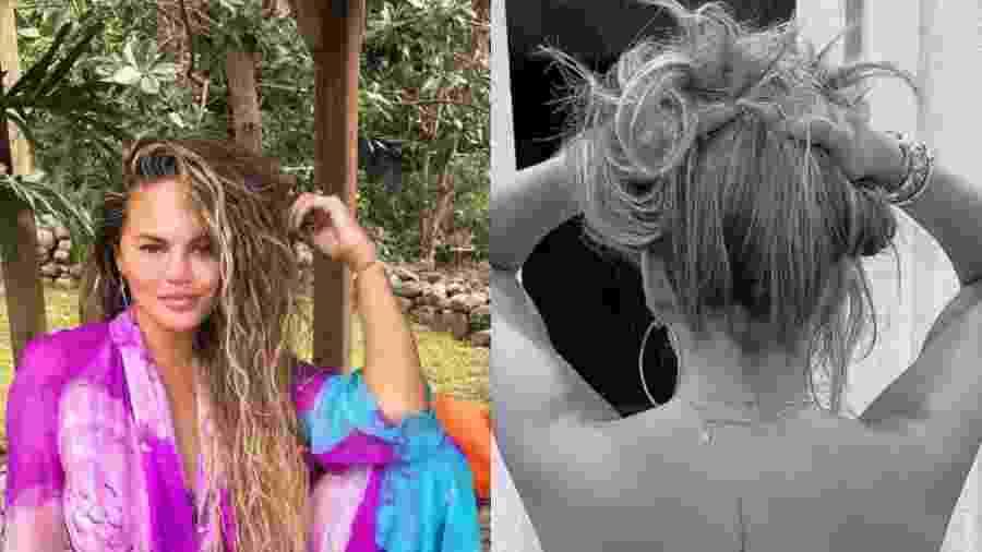 Chrissy Teigen faz tatuagem em homenagem à música do marido - Reprodução/Instagram
