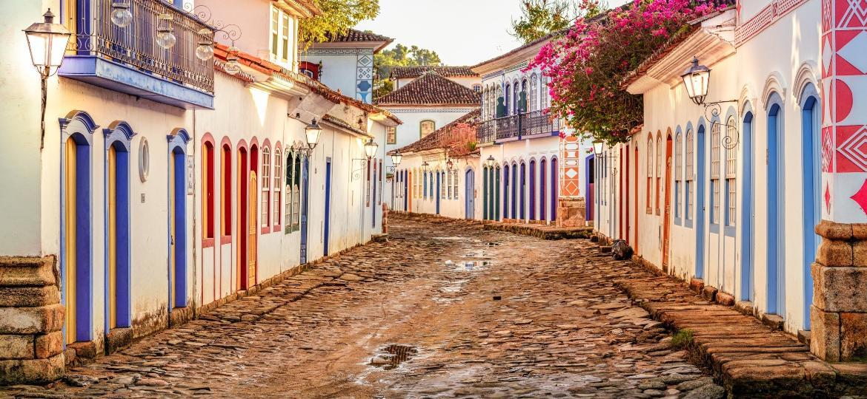 Ruas de Paraty, no Rio de Janeiro - Getty Images/iStockphoto