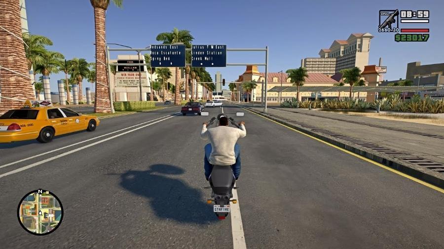 GTA San Andreas PC - Reprodução/Rockstar Games