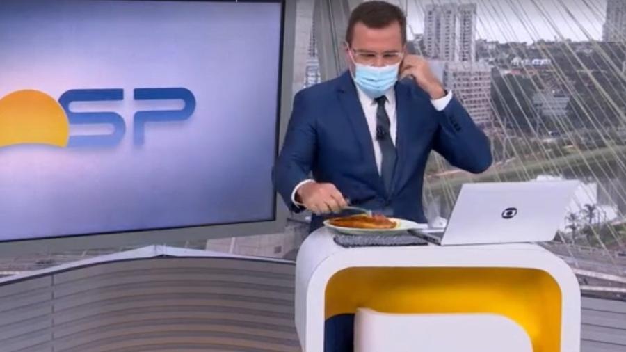 Rodirgo Bocardi recebeu o frango à Kiev feito ontem por Ana Maria Braga - Reprodução/TV Globo