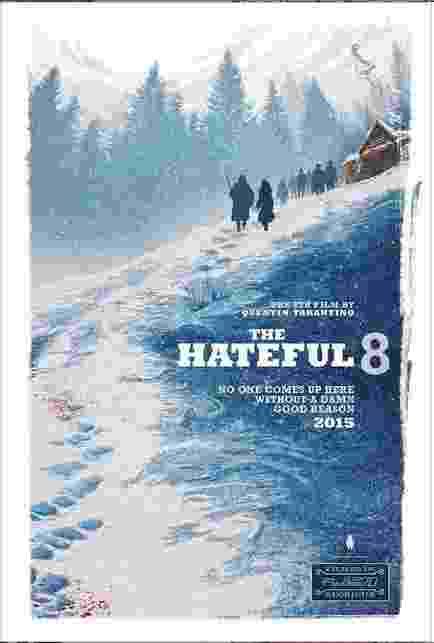 """Pôster do filme """"The Hateful 8"""", de Quentin Tarantino, é divulgado durante a Comic-Con - Reprodução"""