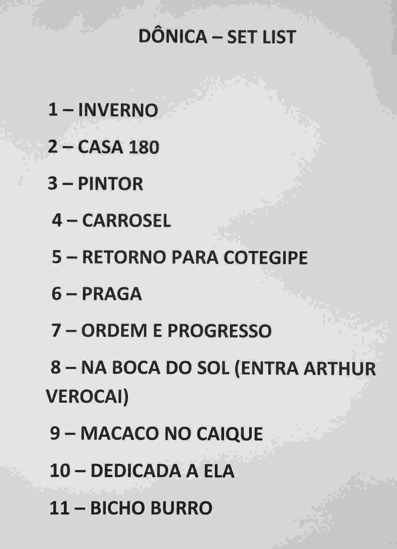 18.set.2015 - Setlist do show da banda Dônica com participação de Arthur Verocai no Palco Sunset do Rock in Rio 2015 - Fernando Maia/UOL