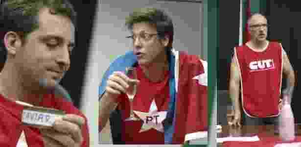 """Gregório Duvivier, Fábio Porchat e Antonio Tabet no vídeo """"Reunião de Emergência 3, a Delação 2"""" do Porta dos Fundos - Reprodução/Youtube"""