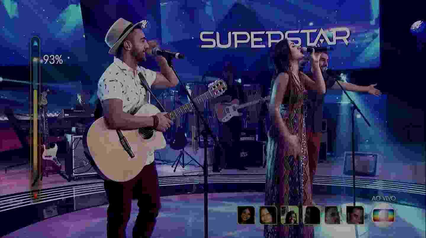"""1.mai.2016 - A banda Melim se apresenta no """"Superstar"""" - Reprodução/TV Globo"""