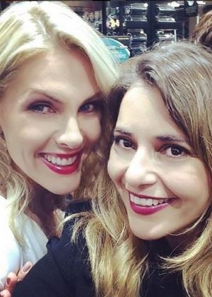 Ana Hickmann com sua cunhada e assessora de imprensa, Giovana Oliveira - Reprodução/Instagram/gioliveira12