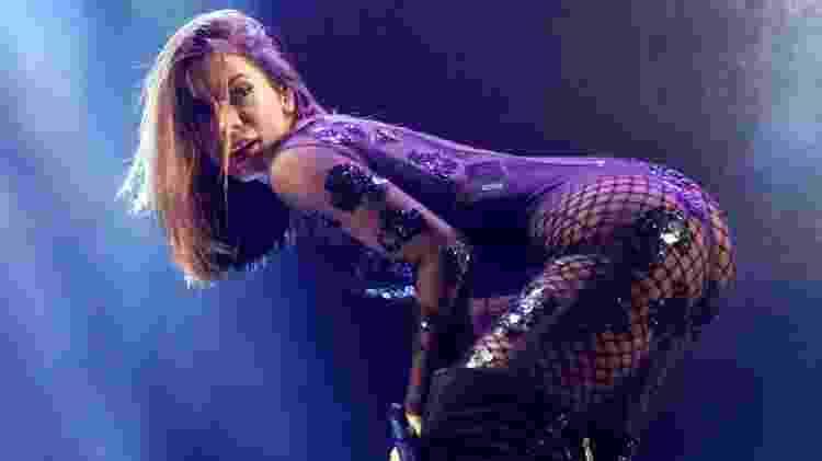 A cantora Anitta foi uma das atrações deste domingo, na tradicional festa junina da Portuguesa, em São Paulo - Manuela Scarpa/Brazil News - Manuela Scarpa/Brazil News