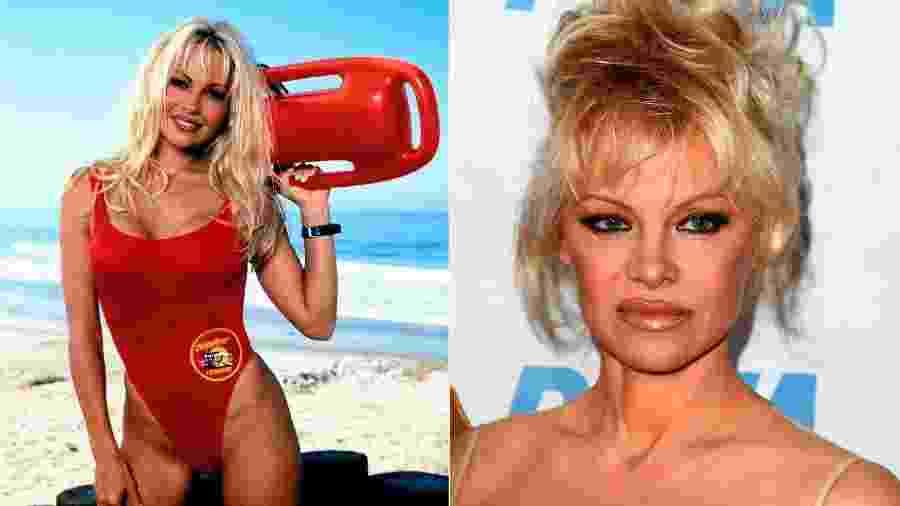 """Pamela Anderson, a eterna C.J. Parker de """"S.O.S Malibu"""" - Reprodução/Kathy Hutchins/Shutterstock.com"""