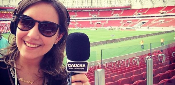 Repórter Renata de Medeiros, da Rádio Gaúcha, foi agredida por torcedor