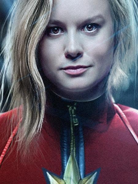 Brie Larson como a Capitã Marvel - Reprodução