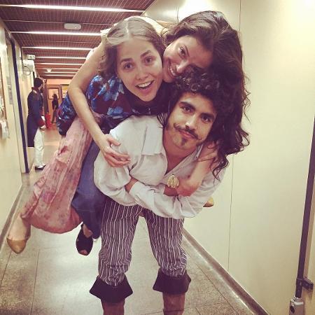 Leticia Colin, Agatha Moreira e Caio Castro - Reprodução/Instagram
