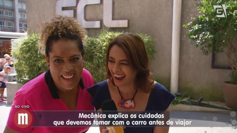 """Catia Fonseca ri ao falar de """"chupeta"""" com mecânica no """"Mulheres"""" - Reprodução/TV Gazeta"""
