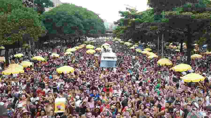 Em 2018, Bloco Pinga Ni Mim arrastou multidão no Carnaval paulistano - Tiago Queiroz/Estadão Conteúdo